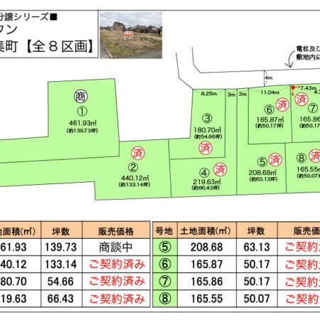 全体区画図と価格表です